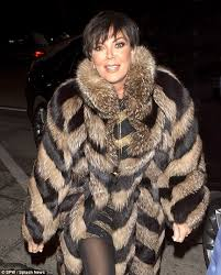 are you fur real kris jenner 60 braves the cold and wraps up