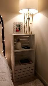 DIY wooden crate nightstand