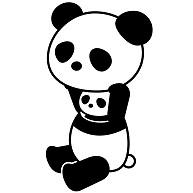 パンダのデザインデザインtシャツ通販clubt