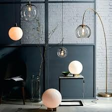clear floor lamp overarching acrylic shade floor lamp antique brass smoke west elm throughout with glass