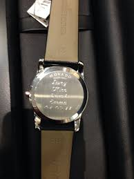 Watch Engraving Quotes Custom Engraving Back Of Movado Watch Yelp