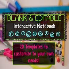 Editable Foldable Templates Interactive Notebook Foldable Templates Editable By Smith Science