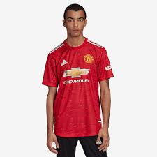 Our man utd football shirts and kits come officially licensed and in a variety of styles. Adidas Manchester United 20 21 Home Authentic Shirt Real Red Mens Replica Tops Pro Direct Soccer
