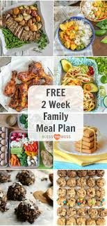 children menu planner 14 day clean eating meal plan for the whole family