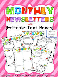Free Newsletter Layout Templates Gorgeous Monthly Newsletter Template For Teachers Preschool Monthly