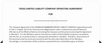 Blank Operating Agreement Form New Llc Operating Agreement Pdf New ...