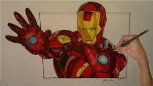 Iron man teaches us that no matter how tough the situation is you have to stay firm and strong against the evil forces. Realistic Iron Man Drawing With Copic Markers Youtube