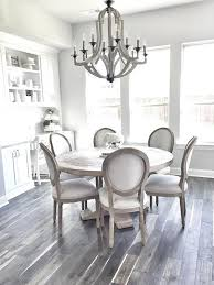 round farmhouse dining table room with antique