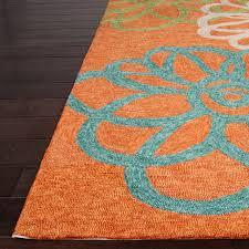 blue green orange rug