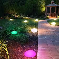 Color Changing Landscape Lights Solar Lights Outdoor Glow Cobble Stone Shape Solar Garden Lights Waterproof Color Changing Landscape Lights With Remote Control