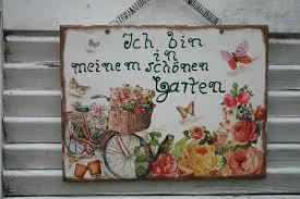 Schild Spruch Garten M Rosen Fahrrad Galerissimo