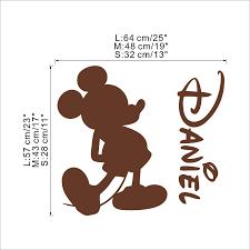 Disney Tùy Chỉnh Tên Chuột Mickey Minnie Mouse Vinyl Decal Dán Tường Trang  Trí Cho Phòng Trẻ Trẻ Em Phòng Treo Tường Trang Trí VA8758|Miếng dán tường
