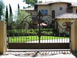 Decorative Iron Gates Designs These iron gates can add some curb appeal to any home Wrought 2
