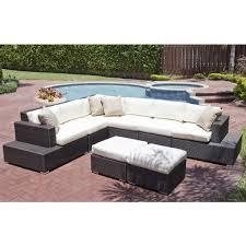 brown set patio source outdoor. Source Outdoor Manhattan 8 Piece Wicker Sectional Set Brown Patio O
