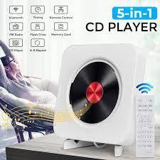 เครื่องเล่นซีดีพกพาพร้อม Bluetooth,ติดผนัง CD Player พร้อมรีโมทคอนโทรล 5HJR