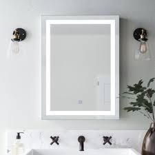 Bathroom wall mirrors Small Butcher Illuminated Bathroom Wall Mirror Wayfair Living Room Wall Mirrors Wayfair