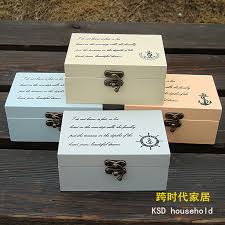 Wooden Box To Decorate Mediterranean Home Decoration Retro Gallery small wooden jewelry 2