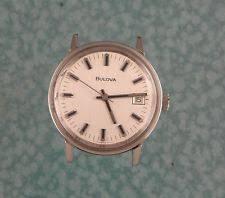 mens used watches lot bulova mens watch 1972 17 jewel steel case runs good lot w3