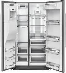kitchenaid 24 8 cu ft side by side refrigerator silver krsf505ess best
