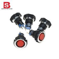 В мм Для Монтажа в Панель Красный Сигнал Индикатор  12 В 22 мм Для Монтажа в Панель Красный Сигнал Индикатор Контрольная Лампа 5 Шт
