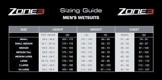Xcel Wetsuit Size Chart Wetsuit Size Guide Triocean Surf Surfboards Xcel
