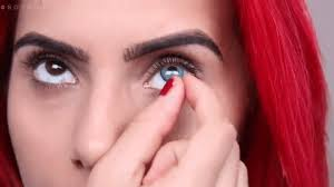 when removing your eye makeup remove your contacts first with clean dry hands be cautious not to tap them into your makeup