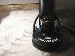 this innovatech grinder was used to remove carpet mastic at the mercedez benz superdome