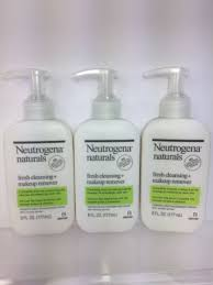 3 neutrogena naturals fresh cleansing and makeup remover face wash lot 6oz