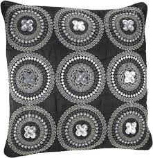 pillow offers online. buy shahenaz home shop tusti sequence 9 circles poly dupion cushion cover - black online. pillow offers online o