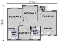 3 bedroom contemporary house plans - Google Search