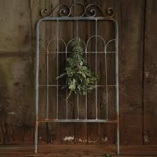 iron fence wall decor with hook