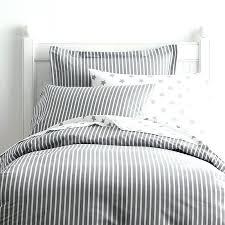 orange and gray striped bedding stone grey white ticking linen duvet cover
