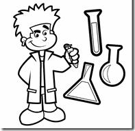 Kleurplaat Thema De Kleine Professor Science Week Science En
