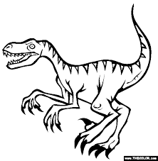 Small Picture Velociraptor Coloring Page Free Velociraptor Online Coloring