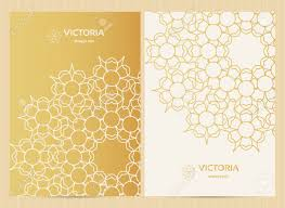 Restaurant Menu Format Free A4 Format Cards Decorated With Mandala In Golden Colors Vector