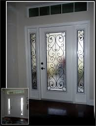 wrought iron glass front entry doors mediterranean entrance