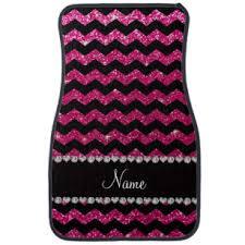chevron car floor mats. Perfect Mats Custom Name Black Neon Hot Pink Glitter Chevrons Car Mat On Chevron Car Floor Mats