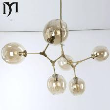 Bubble Glass Chandelier Free Shipping Lights Lamps Gold Branching