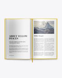 This free mockup available in the photoshop. Hardcover Book Mockup In Stationery Mockups On Yellow Images Object Mockups