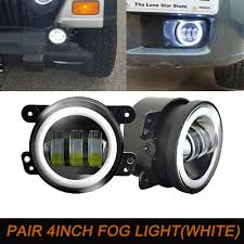 Mopar Fog Lights Jeep Wrangler Details About 4inch Led Fog Lights Lamp For Dodge Magnum Pt Cruiser Chrysler 300 Jeep Wrangler