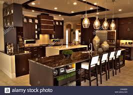 Luxury Kitchen Interior Luxury Kitchen In Home In Windermere Florida Stock Photo