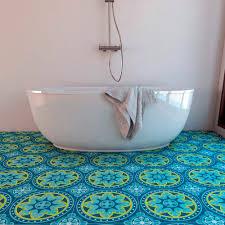 blue bathroom floor tile. Floor Tile Decals Blue Bathroom