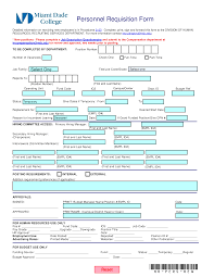 Personnel Requisition Form Templates At