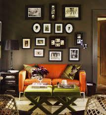 living room orange