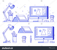 Graphic Designer Stuff Graphic Designer Stuff Icons Digital Illustrator Stock