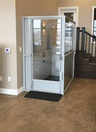 commercial wheelchair lift. Symmetry Vertical Platform Lift Enclosed In Commercial Setting Installed By Adaptive Environments Wheelchair