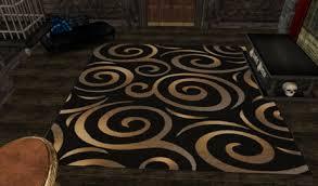 sweetlooking black and gold rug s slm assets1 secondlife com assets 5815148