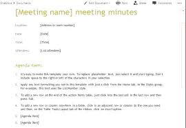 Simple Meeting Agenda Template Example Generic Staff Team Free ...