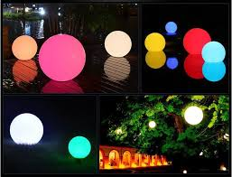 waterproof creative modern round ball pe led rgb table lamp for bar bedroom living room camping