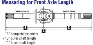 Dana 44 Front Axle Shaft Length Chart Front Axle Shafts Jeep Front Axle Shafts Chevy Dodge